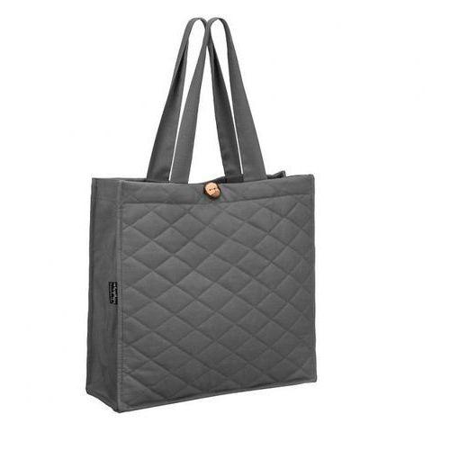 - pikowana torba na zakupy szara wymiary: 38 x 40 x 15 cm marki Healthy plan by ann