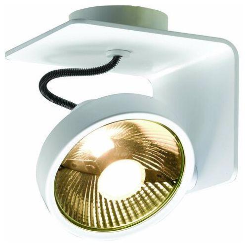 Spot LAMPA sufitowa JERSY 70070101 Kaspa metalowa OPRAWA natynkowa REFLEKTOR minimalistyczny regulowany biały, kolor Biały