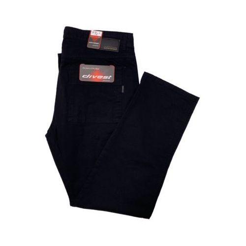 Divest spodnie bojówki czarne Model 200 134/33 Czarny Bawełna / Lycra