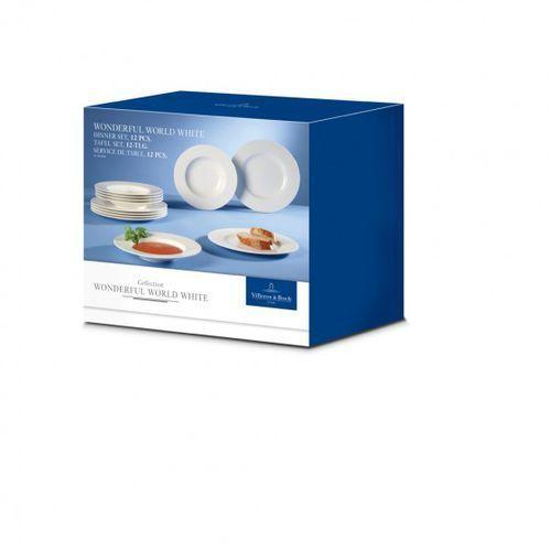 wondeful world komplet talerzy 12szt. białe marki Villeroy&boch