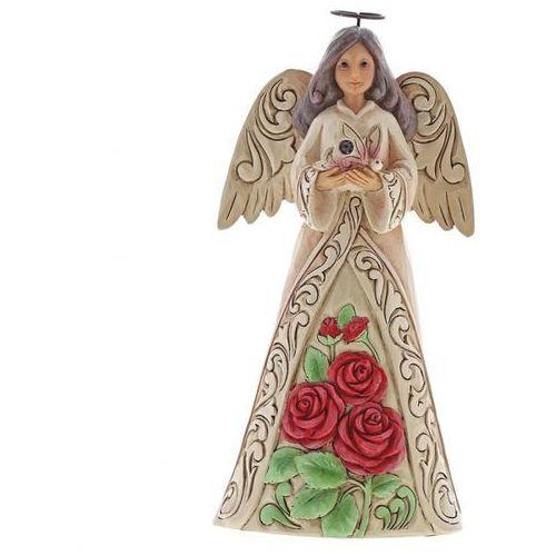 Anioł czerwiec patron urodzonych w czerwcu monthly angel figurine june angel 6001567 , pamiątka narodzin, chrztu figurka dewocjonalia marki Jim shore