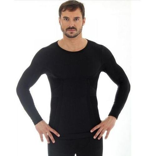 ls11600 koszulka męska z długim rękawem comfort wool czarny marki Brubeck