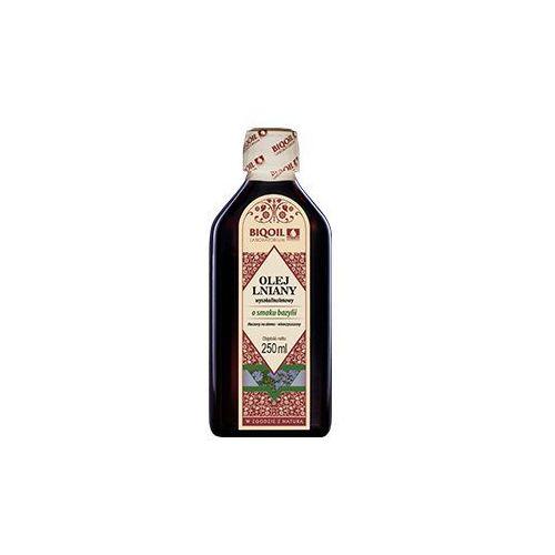 Olej lniany o smaku bazylii tłoczony na zimno OmegaLen® 250 ml