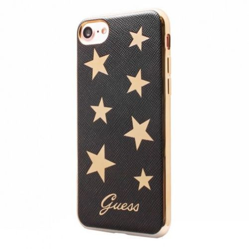 Guess Stars Soft Case - Etui iPhone 7 (czarny) (3700740396148)