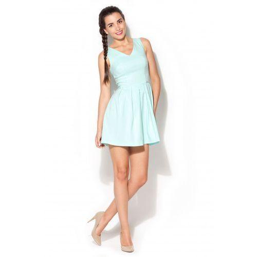 Dziewczęca sukienka KATRUS K182 seledynowa (sukienka dziecięca)