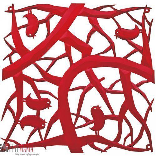 Panel dekoracyjny Koziol Pi:P ptaszki czerwony 4 szt. KZ-2042536 - sprawdź w stylmania