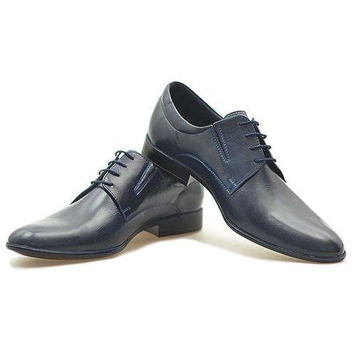 Pantofle Pan 775 Granatowe, kolor niebieski