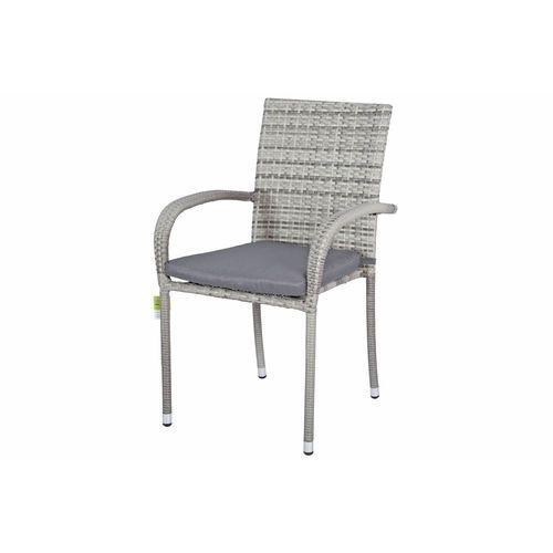 Edomator.pl Meble ogrodowe technorattan malaga stół i 6 krzeseł - szare - szary