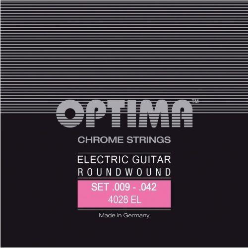 Optima 4028el (674667) struny do gitary elektrycznej chrome strings round wound komplet