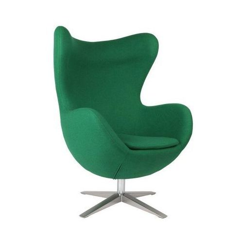 Fotel Jajo inspirowany Egg szeroki wełna - zielony, kolor zielony