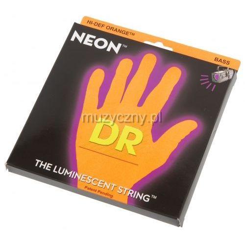 Dr nob-40 struny do gitary basowej neon pomarańczowe 40-100