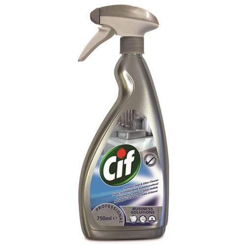 Spray do metalu i szkła cif stainless steel & glass 750ml marki Diversey