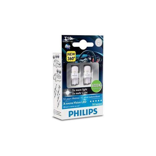 ZESTAW 2x LED Żarówka samochodowa Philips X-TREMEULTION 127994000KX2 T10 W2,1x9,5d/0,8W