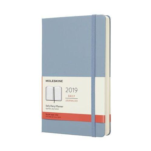 Kalendarz Moleskine 2019 Dzienny, L, błękitny