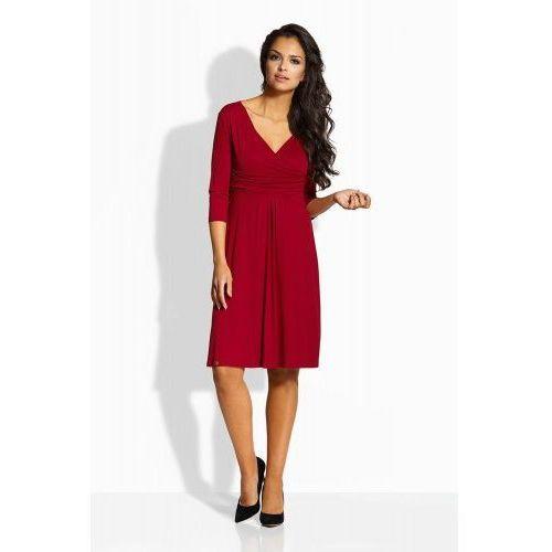 cb6ee4a202 ... EM134 Elegancka rozkloszowana sukienka bordo