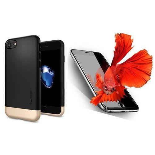 Zestaw   Spigen SGP Style Armor Black   Obudowa + Szkło ochronne Perfect Glass dla modelu Apple iPhone 7