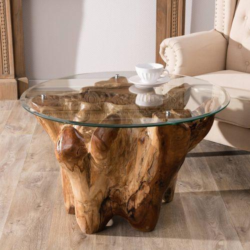 Dekoria stolik kawowy tual 80x80x56cm, 80 × 80 × 56 cm