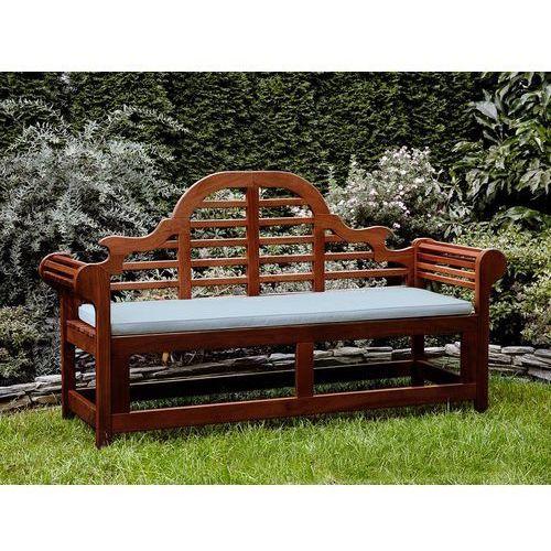 Ławka ogrodowa drewniana 180 cm poducha jasnoniebieska toscana marlboro marki Beliani