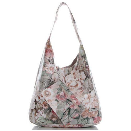 1856104fe0a14 Firmowe Torebki Skórzane Modny Shopper XL w motyw kwiatów renomowanej marki Vittoria  Gotti Różowe (kolory) 229,00 zł wielkie torby dodatkowo mogą być ...