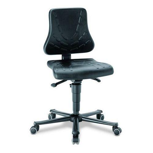 Obrotowe krzesło do pracy, pow. siedziska z pianki poliuretanowej, na rolkach, z marki Bimos