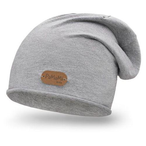 Wiosenna czapka chłopięca PaMaMi - Jasnoszary - Jasnoszary, kolor szary
