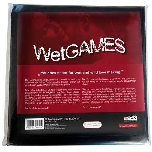 JoyDivision SexMAX WetGAMES 180 x 220 cm (czarne) (4028403221019)