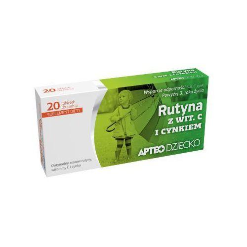 Synoptis pharma Apteo dziecko rutyna z witaminą c i cynkiem x 20 tabletek do ssania