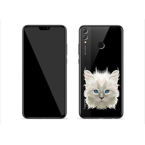 Huawei honor 8x - etui na telefon crystal design - jasny kot marki Etuo crystal design
