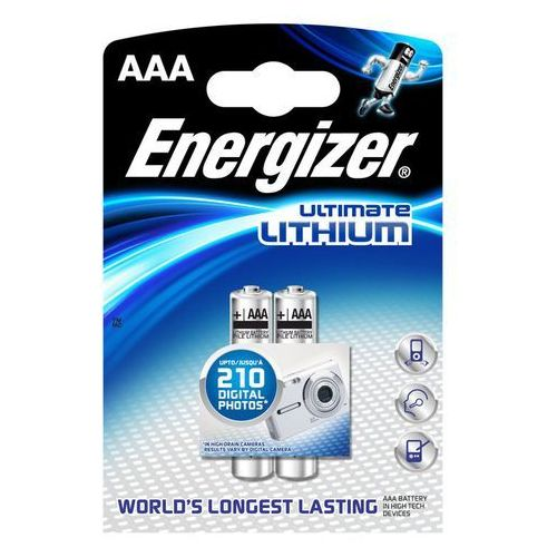 Bateria ENERGIZER Ultimate Lithium AAA L92/2 szt. (7638900262629)