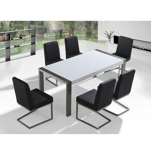 Zestaw mebli stal szlachetna – stół 180 – krzesła do wyboru - arctic i wyprodukowany przez Beliani