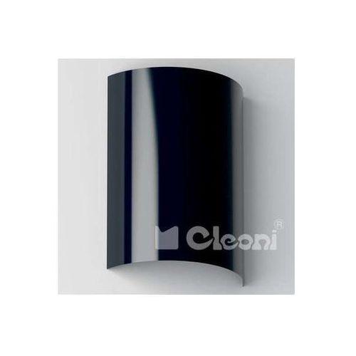 Kinkiet lampa ścienna turbot 1304n3562+kolor metalowa oprawa półokrągła marki Cleoni