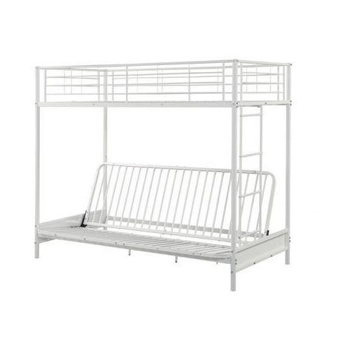 Łóżko antresola MODULO IV - 90 × 190 cm - kolor biały