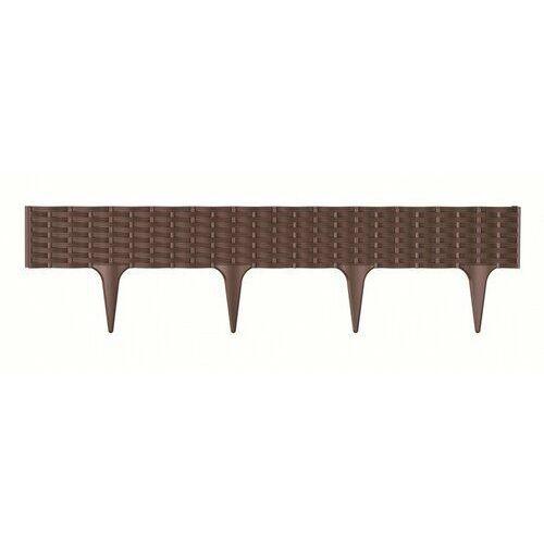 Prosperplast Obrzeże do trawy Rattan brązowy, 390 cm (5905197957401)