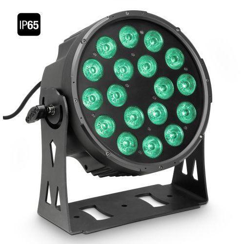 flat pro 18 ip65 - 18 x 10 w flat led outdoor rgbwa par - reflektor led w czarnej obudowie ip65 marki Cameo