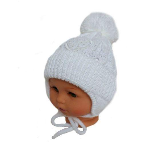 Zimowa czapka niemowlęca z szalikiem, podszyta bawełną, rozmiar: 6 – 12 miesięcy marki Proman
