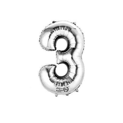 Balon foliowy cyfra 3 - 88 cm - 1 szt.
