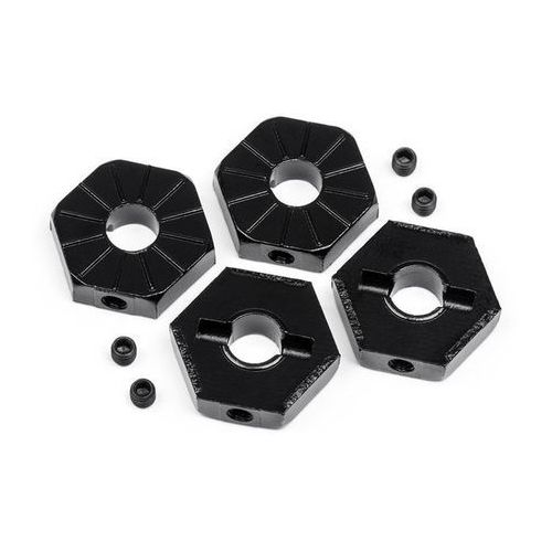 17mm hex wheel adaptor w/ set screws 4pcs (black) marki Mv