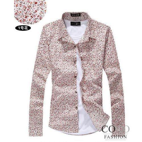 Koszula Slim Fit z Długim Rękawem z Florystycznym Wzorem Dostępna w 2 Kolorach - sprawdź w Coco Fashion