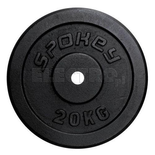 Obciążenie żeliwne SPOKEY Sinis 20 kg 84424 + DARMOWA DOSTAWA + Odbiór w 650 punktach Stacji z paczką! (gryf, sztanga) od ELECTRO.pl