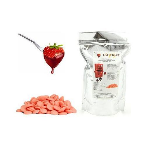 Czekolada truskawkowa belgijska do fondue oraz fontann | 1 kg