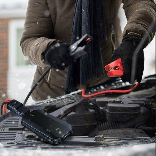 Baseus Car Jump Starter | Power Bank z funkcją rozruchu samochodu + kable KLEMY latarka 8000mAh 5V/2.4A, CRJS01-01