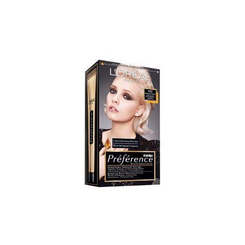 Feria Preference farba do włosów 102 Iridescent Bliss bardzo jasny blond perłowy, L'oreal
