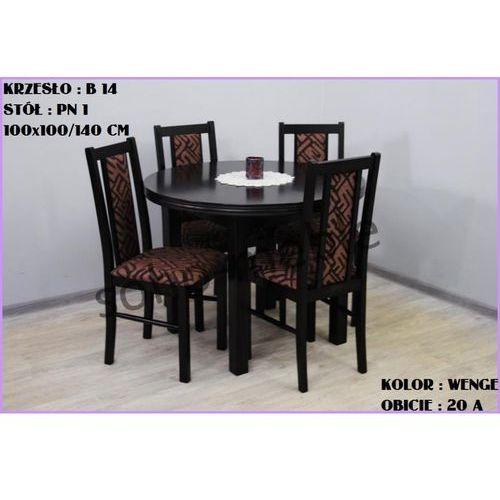 ZESTAW ZEFIR VIII 4 KRZESŁA B 14 + STÓŁ PN 1 100x100/140 CM - produkt z kategorii- zestawy mebli do salonu