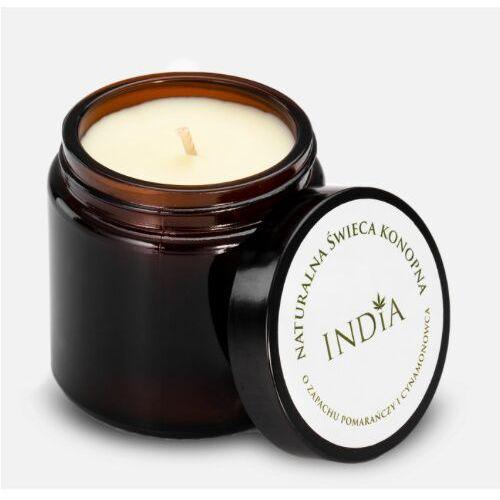 India cosmetics Świeca konopna o zapachu pomarańczy i cynamonowca (5901138249482)