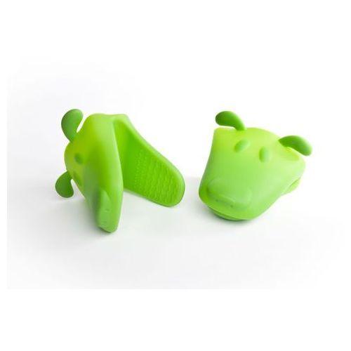 Silikonowa łapka piesek - złap gorące naczynia - ZIELONA - zielony
