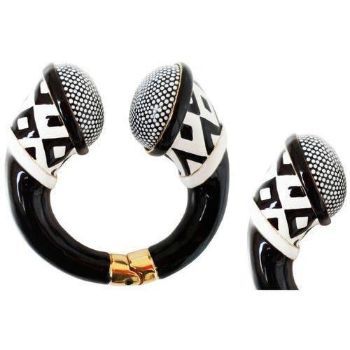 Mosiężna bransoletka Pasotti Br K19 - Particular Black and White Bracelet, kolor biały