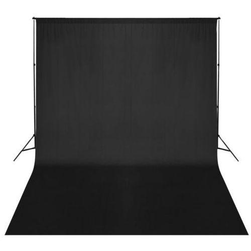 vidaXL Zestaw do zawieszenia wraz z tłem fotograficznym. Czarny 500 x 300 cm (8718475820918)