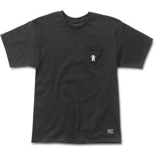 koszulka GRIZZLY - Og Bear Embroidered Pkt Tee Black And White (BKWH) rozmiar: XL, kolor czarny