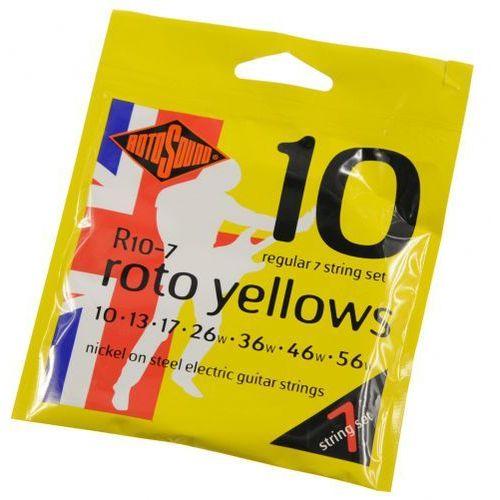 Rotosound R-10-7 Roto Yellows struny do gitary elektrycznej siedmiostrunowej 10-56
