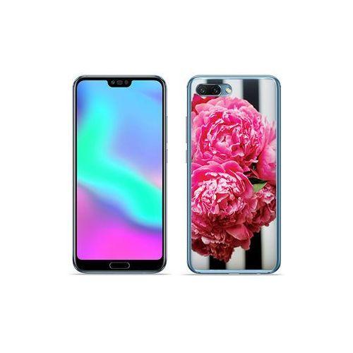 Etuo foto case Huawei honor 10 - etui na telefon foto case - różowe kwiaty